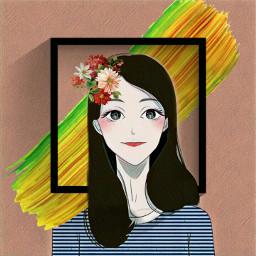 freetoedit framework colorful sweetgirl cute
