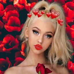 freetoeditloren gray red kiss rose