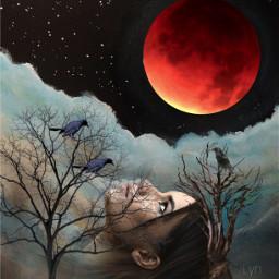 freetoedit fantasy art head raven