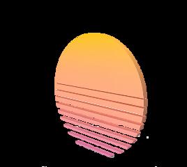 3d perspective sun vaporwave freetoedit