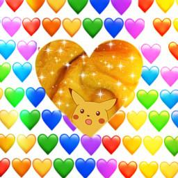 pikachu pokemon colerfull heart rainbow