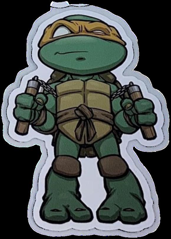 #stickergang #ninja #turtles #michaelangelo #nun #chucks #cartoon #turtlesinahalfshell #freetoedit