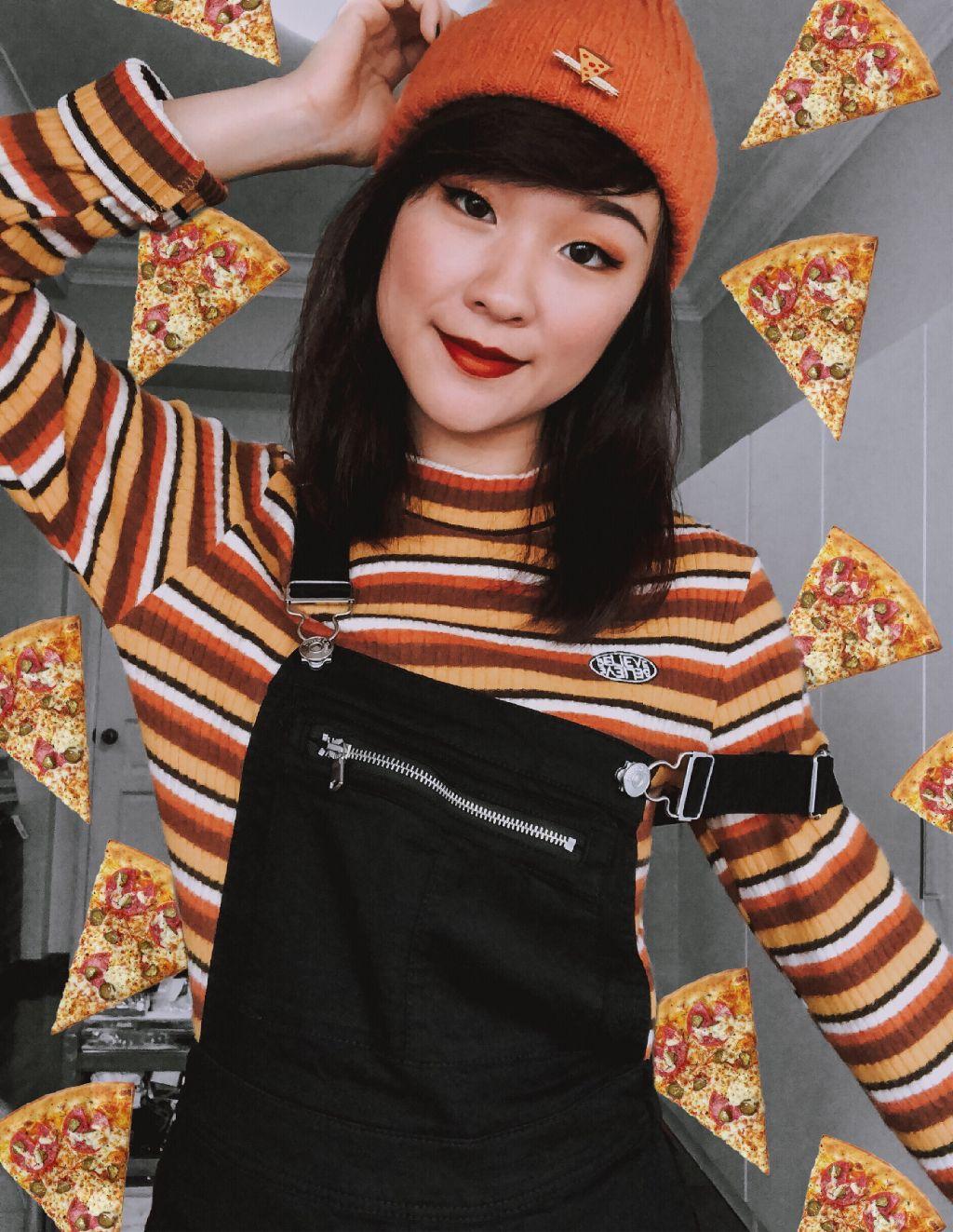 #freetoedit #pizza #party #orangeaesthetic