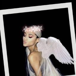 freetoedit arianagrande wings crownflower frame