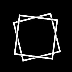 effects square backgroud frame blackandwhite freetoedit