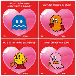 freetoedit pacman valentinesday valentinescards namco