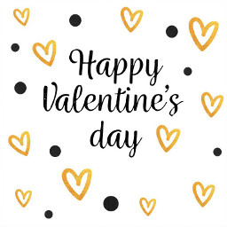 valentines gold black