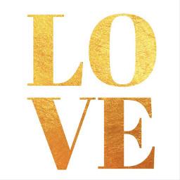 valentines gold love