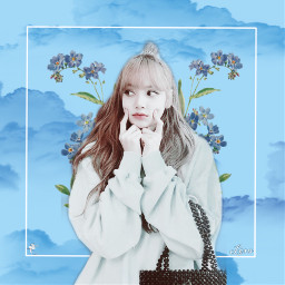 blackpink lisa blue pastel blink freetoedit