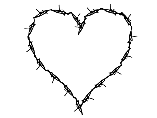 heart wire black edgy goth freetoedit