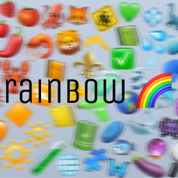freetoedit rainbow aesthetic