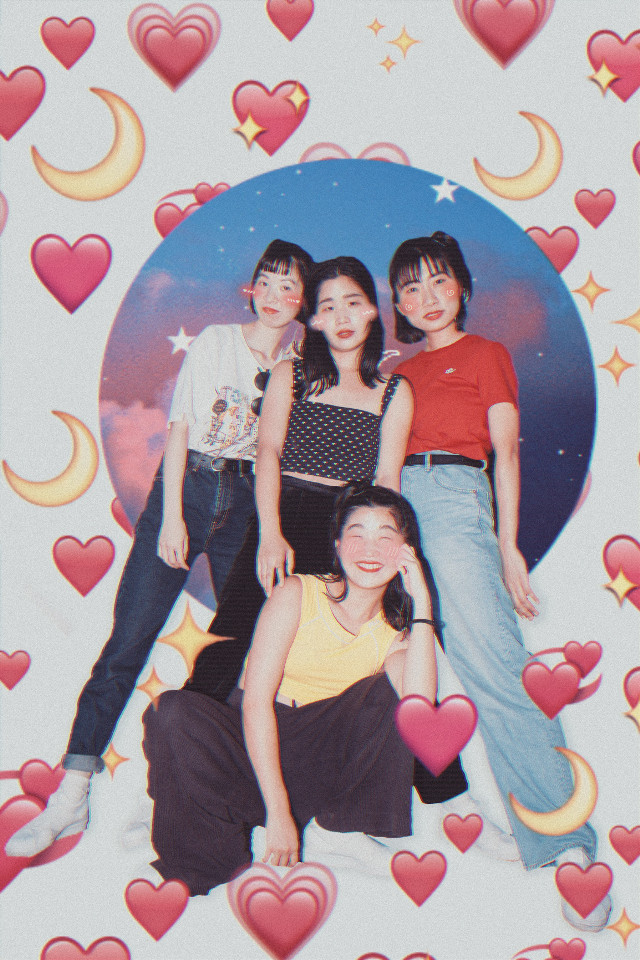 They are so cute 🥰💛. #freetoedit #art #love #cute #kawaii #aesthetic #fanart #edit #hearts #emoji #galaxy #pixel #music #girls #japan