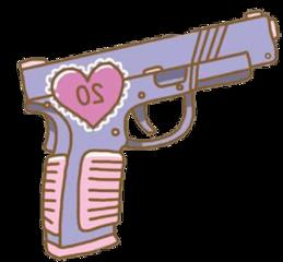 gun aesthetic tumblr cute sticker freetoedit