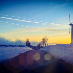 snow winter sunset lumia950xl freetoedit