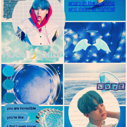 freetoedit yoongi blue aesthetic