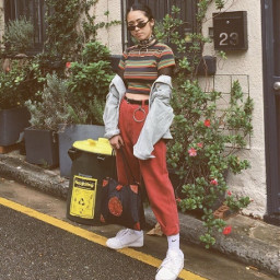 aesthetic colors red outfit fashionblog