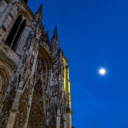freetoedit rouen night architecture moon