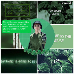 freetoedit jhope hoseok green aesthetic