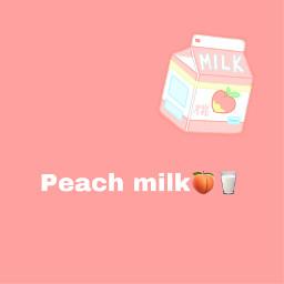 peachmilk pêssego milk leite peach