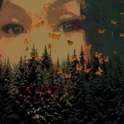 ircwinterforest winterforest freetoedit myedit selfportrait