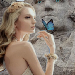 ircpresidentsday presidentsday freetoedit woman butterflies