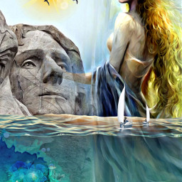 ircpresidentsday presidentsday freetoedit woman sea