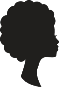 silhouette girl afro freetoedit