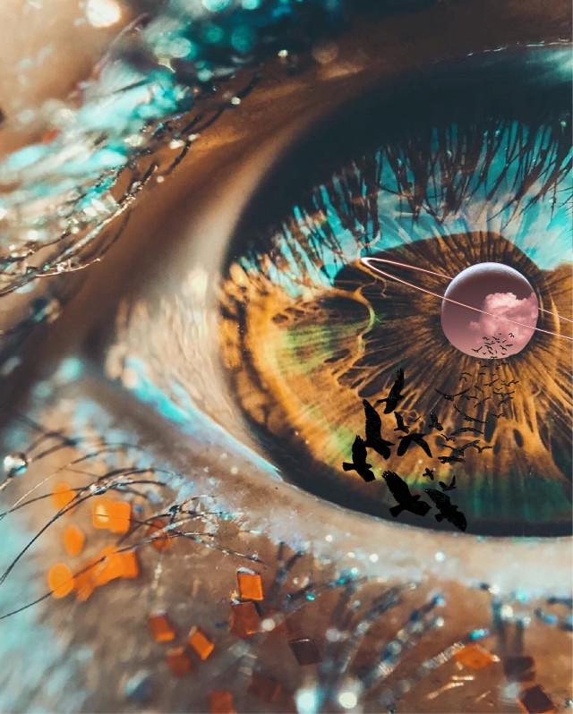 Imagine 🎶  #browneye #saturneye #cloud #birds #bright #saturn