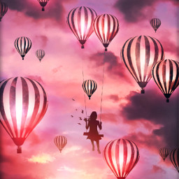 freetoedit balloon fantasy flying