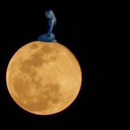lonely moon aloneinthedark moonart remixed freetoedit