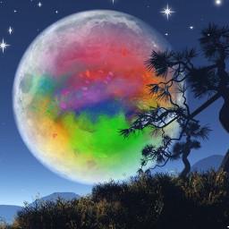 apple supermoon colourfulsky