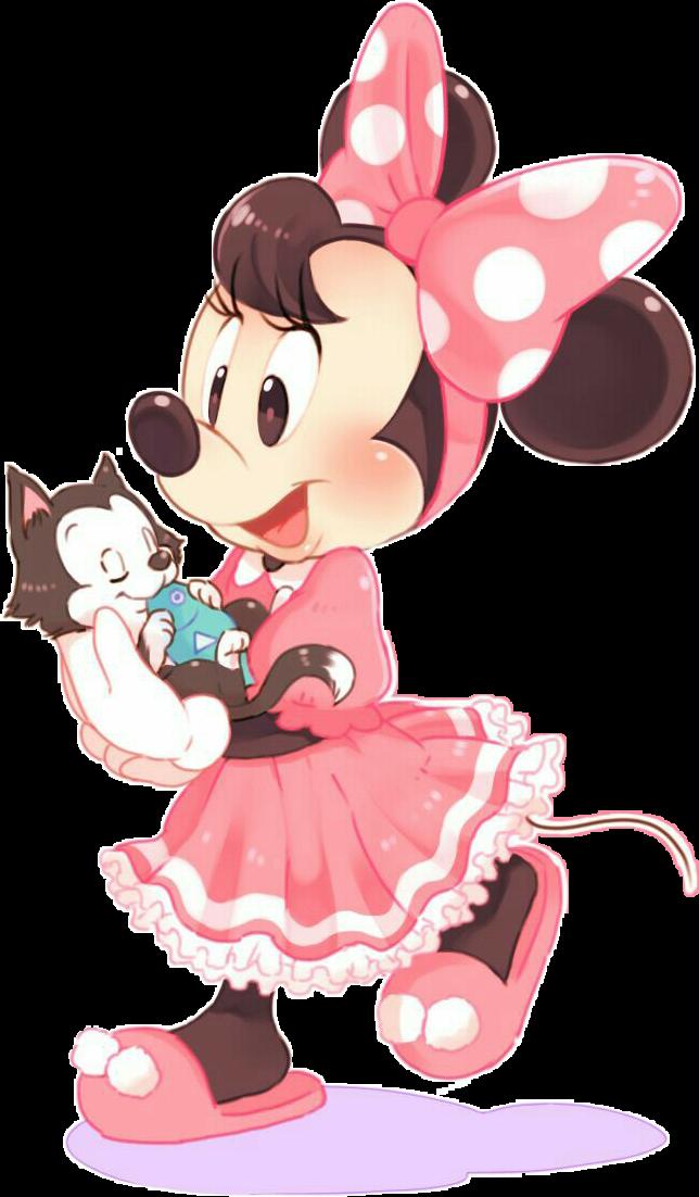 #figaro#minniemouse #cartoon#disney#mamna#cute#pink#rosa#cat