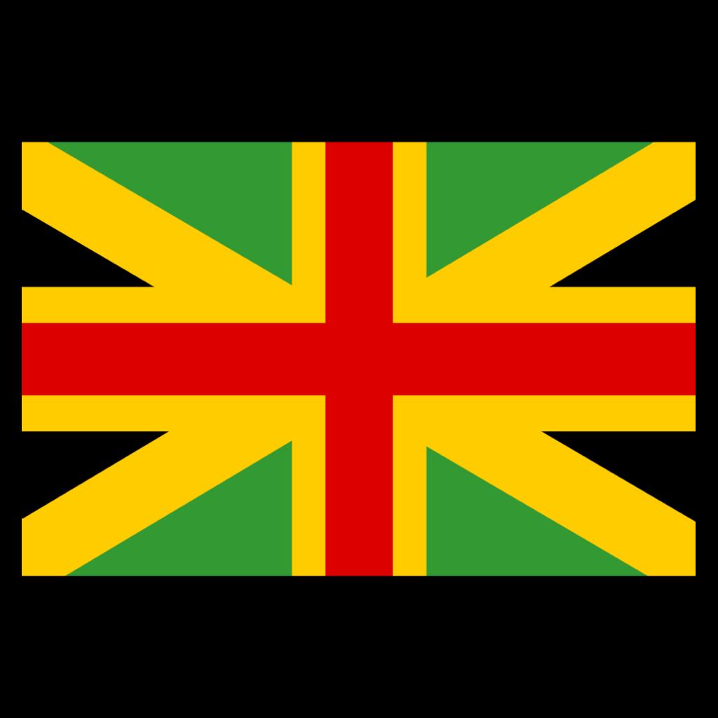 Jamaican flag rasta rastafari red yellow green black