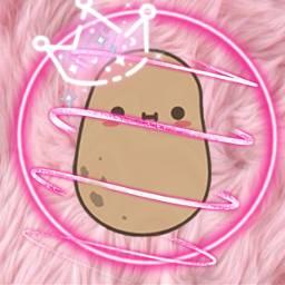 freetoedit pink potato love crownflower