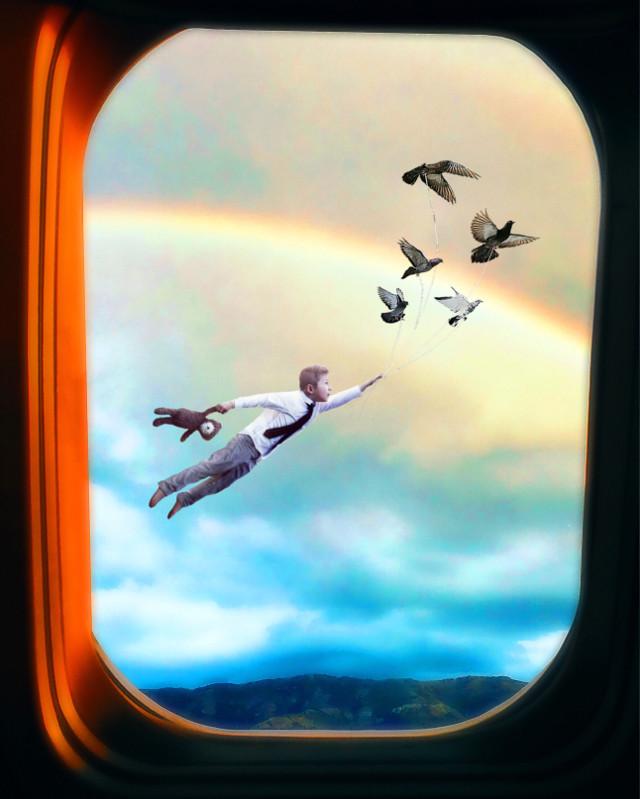 """""""Up, Up And Away!!"""" - - #imagination #ohtheplacesyoullgo #ircfaketravel"""