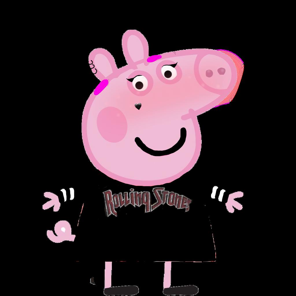 Peppa Pig Egirl Sticker By Senni Valkeapaa