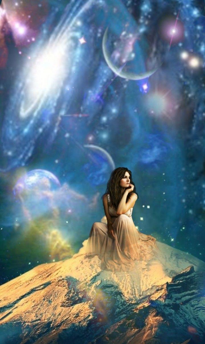 #freetoedit #doubleexposure #doubleexpesure #fantasyart #space #woman #womansitting  #universo #universe