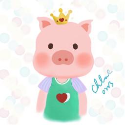 pig piglet cartoon draw drawing