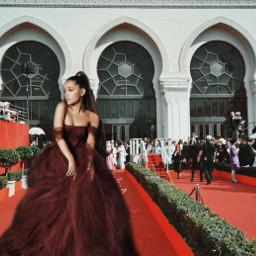 arianagrande redcarpet reddress beautiful arinator ircredcarpet freetoedit