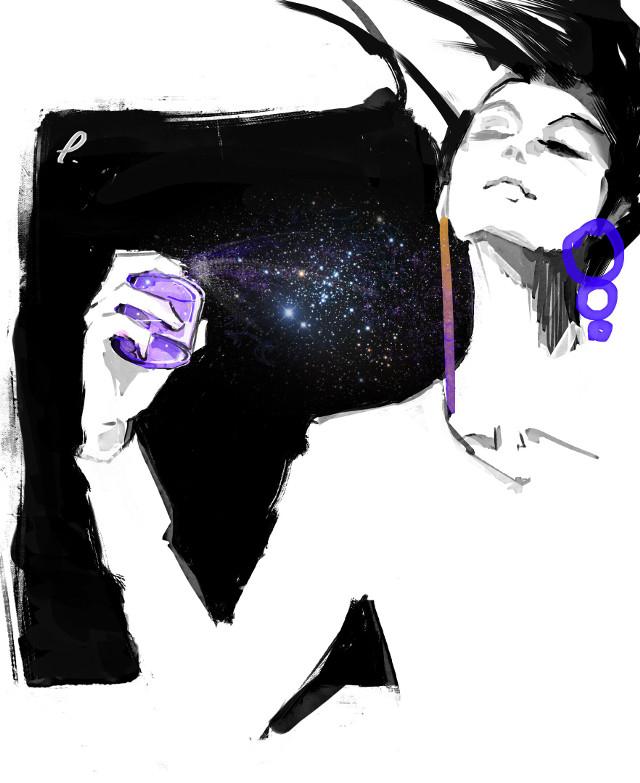 #punksy #artist #painter #illustrator #drawing #painting #fashion #fashionart #moda #model #perfume #space