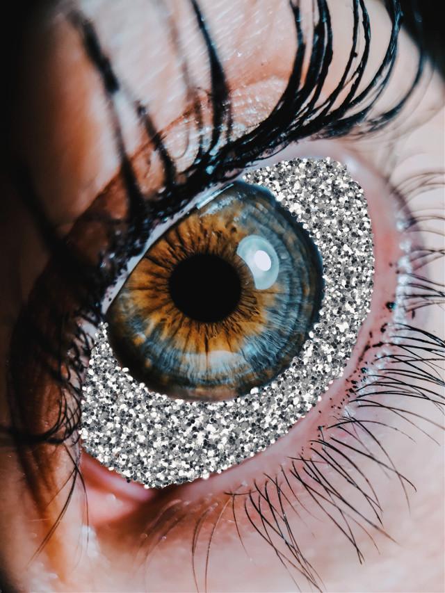#freetoedit #silverglitterbrush #glitter #glittereye