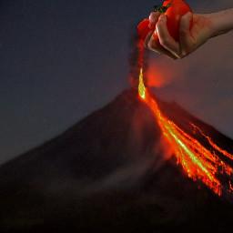 freetoedit volcano volcan magma lava