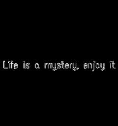 life quote mystery happy enjoyit freetoedit