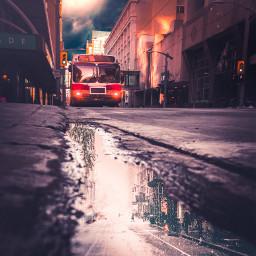 street puddle water rain reflection freetoedit