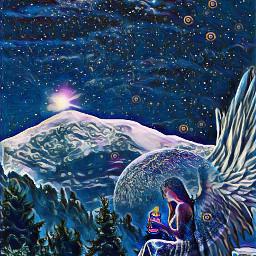 freetoedit angel midnight ircsunset sunset