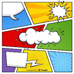 comic text bubble strip background