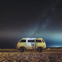 van vintage galaxy background backgrounds freetoedit