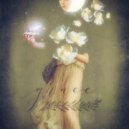 art beauty grace purity moon