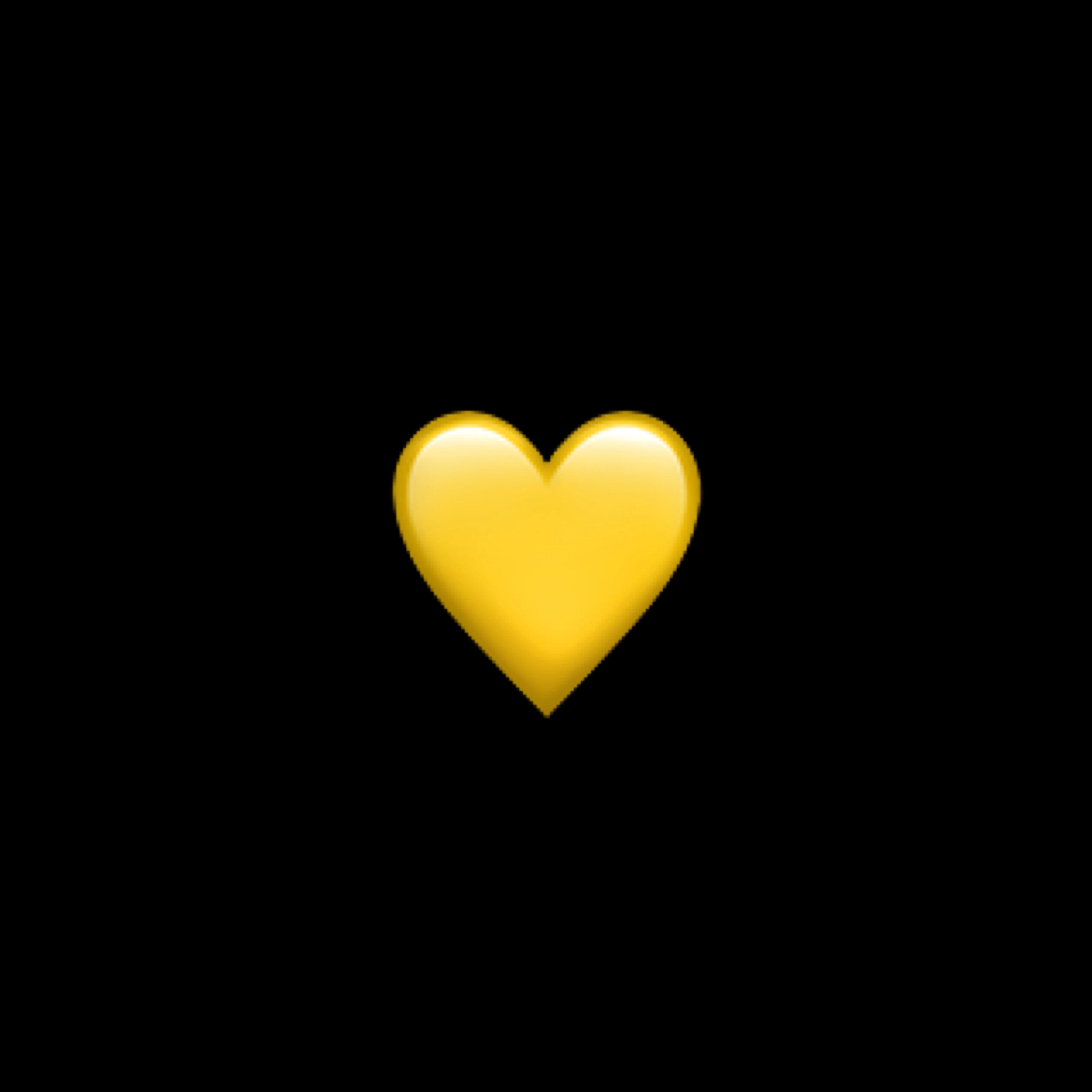 yellow heart emoji iphone freetoedit... Yellow Heart Emoji