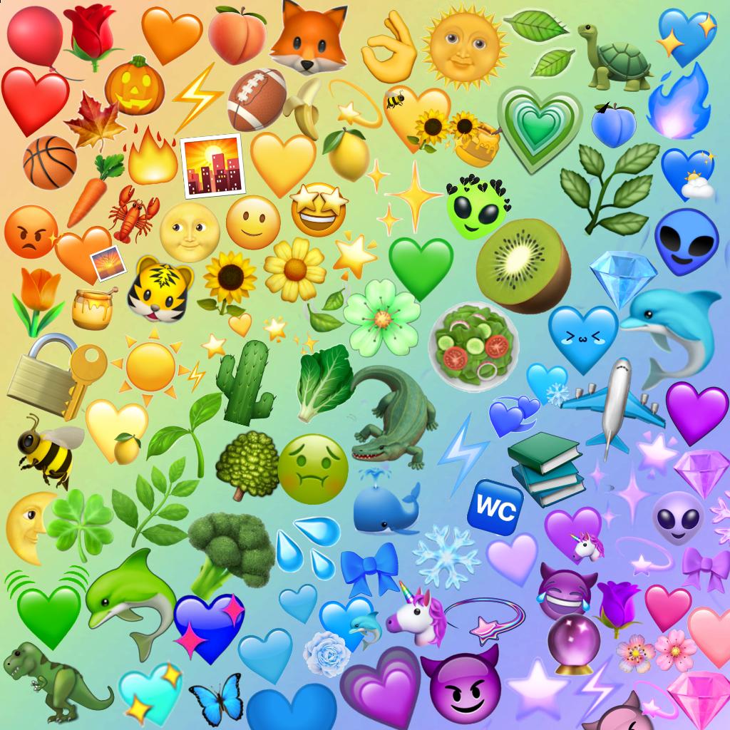 rainbow emoji rainbowemojis background emojibackground